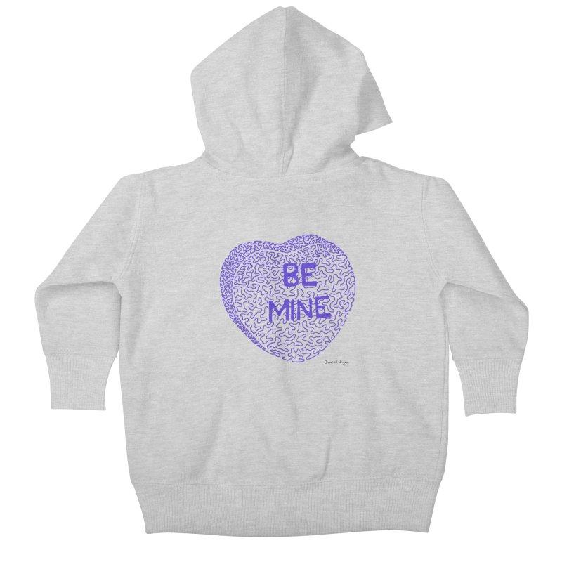 Be Mine Purple Kids Baby Zip-Up Hoody by Daniel Dugan's Artist Shop