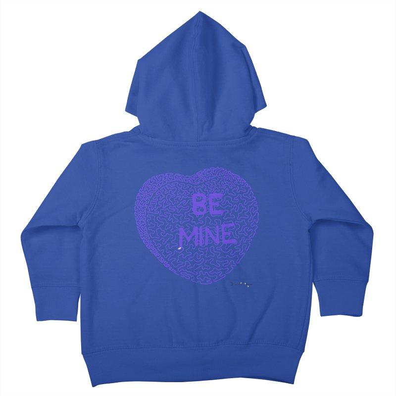 Be Mine Purple Kids Toddler Zip-Up Hoody by Daniel Dugan's Artist Shop