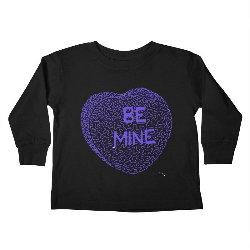 Be Mine Purple Kids Toddler Longsleeve T-Shirt by Daniel Dugan's Artist Shop