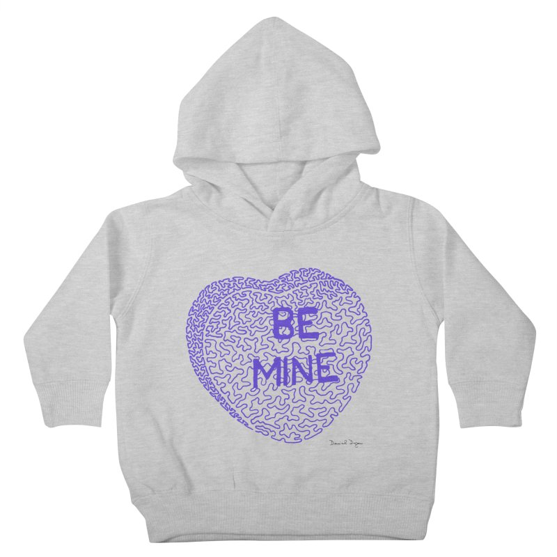 Be Mine Purple Kids Toddler Pullover Hoody by Daniel Dugan's Artist Shop