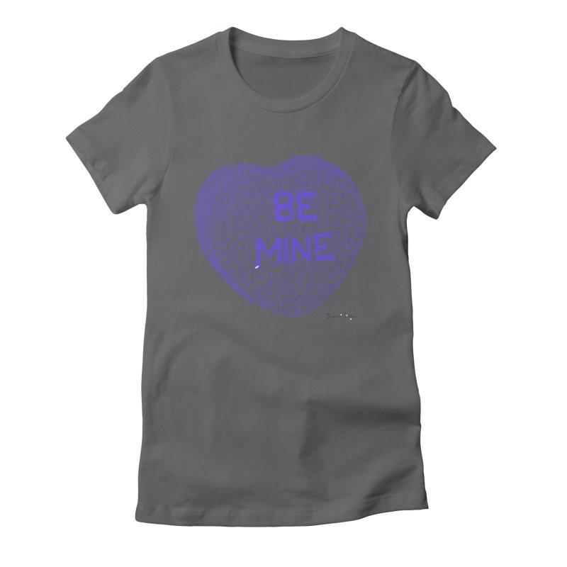 Be Mine Purple Women's Fitted T-Shirt by Daniel Dugan's Artist Shop
