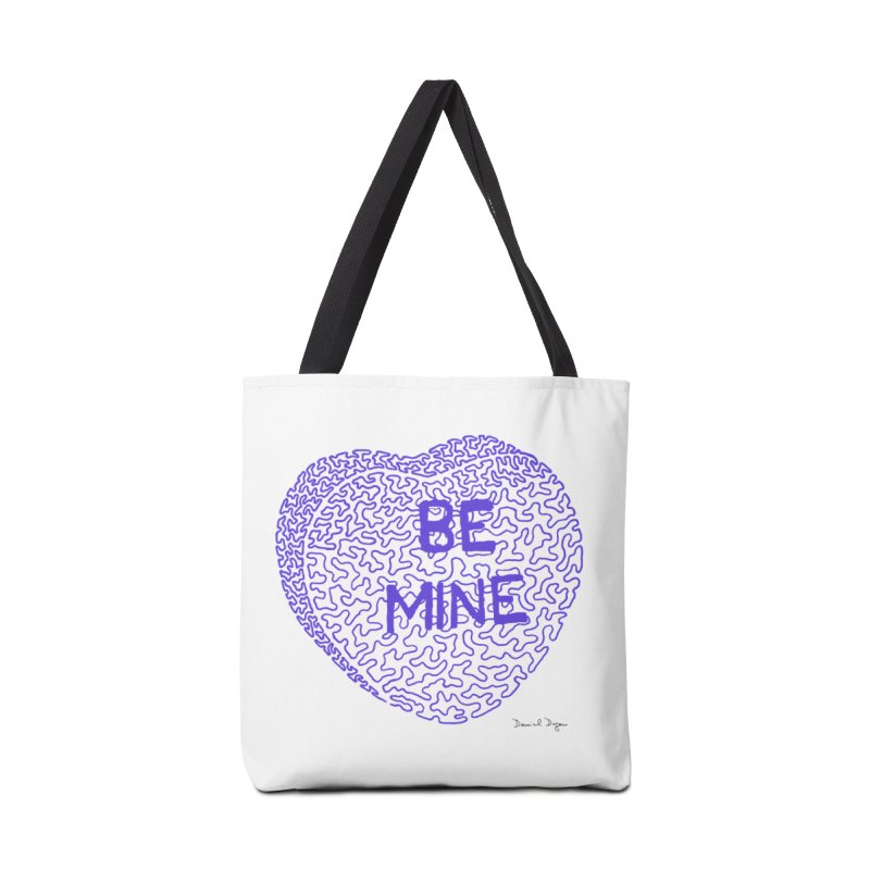 Be Mine Purple Accessories Bag by Daniel Dugan's Artist Shop