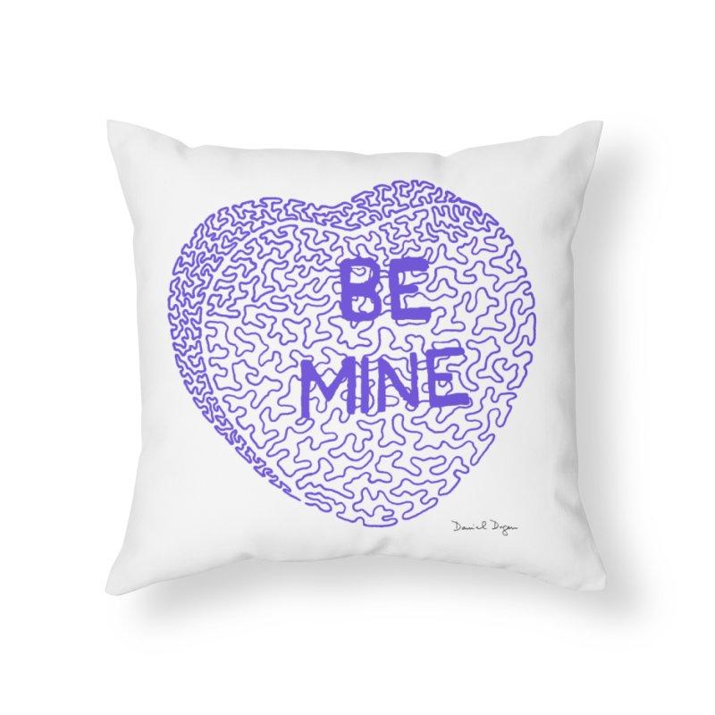 Be Mine Purple Home Throw Pillow by Daniel Dugan's Artist Shop