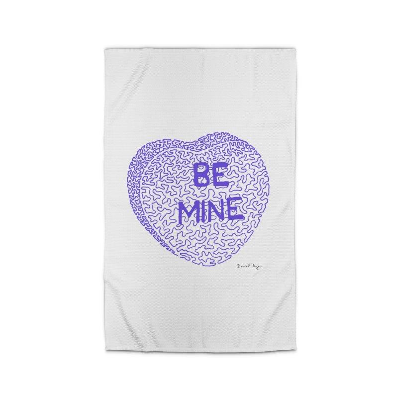 Be Mine Purple Home Rug by Daniel Dugan's Artist Shop