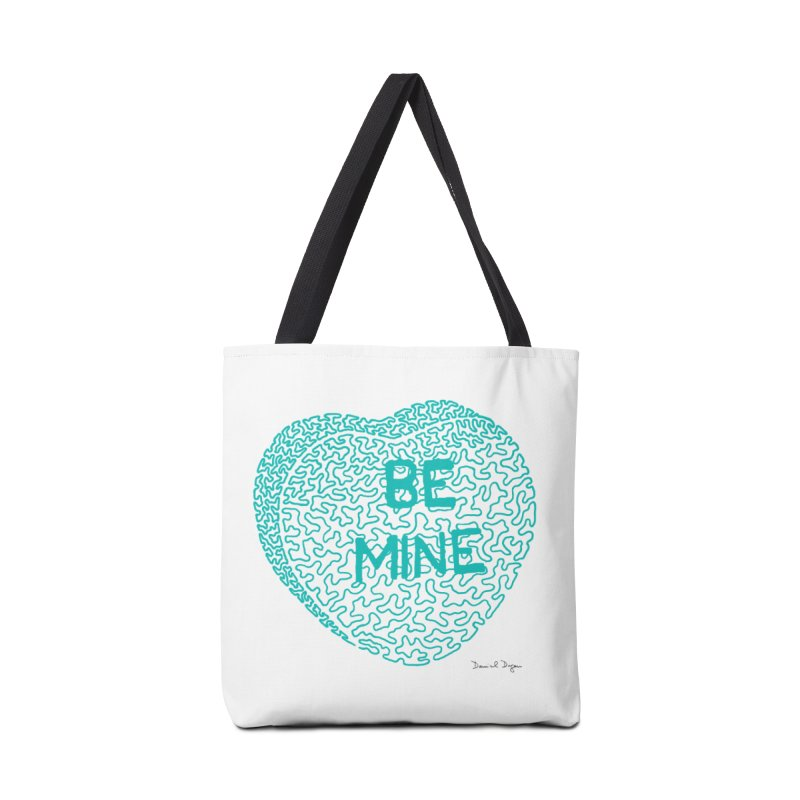 Be Mine Tiffany Blue Accessories Bag by Daniel Dugan's Artist Shop