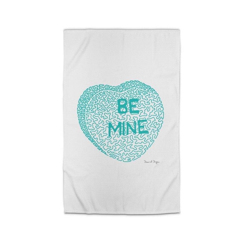 Be Mine Tiffany Blue Home Rug by Daniel Dugan's Artist Shop