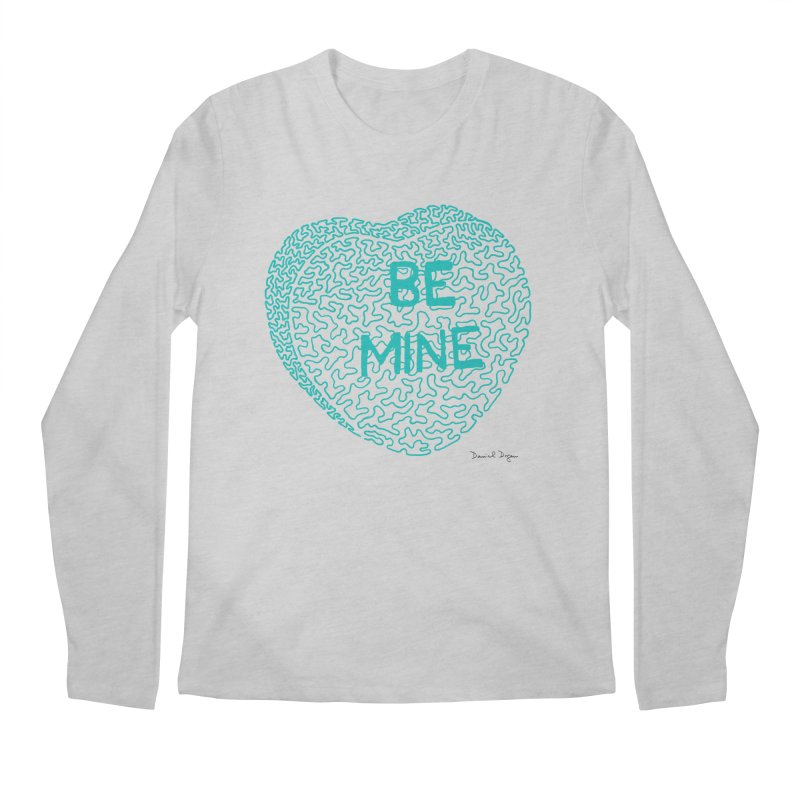 Be Mine Tiffany Blue Men's Longsleeve T-Shirt by Daniel Dugan's Artist Shop