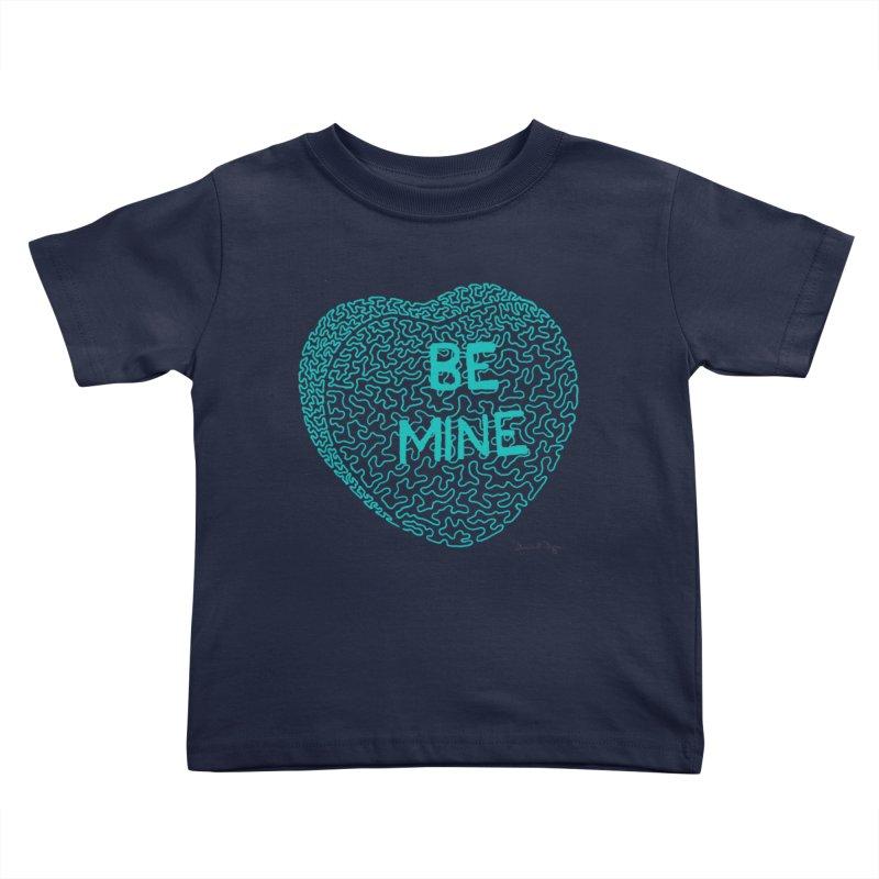Be Mine Tiffany Blue Kids Toddler T-Shirt by Daniel Dugan's Artist Shop