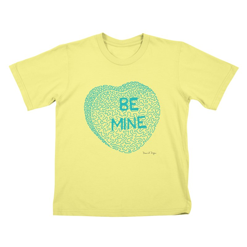 Be Mine Tiffany Blue Kids T-shirt by Daniel Dugan's Artist Shop