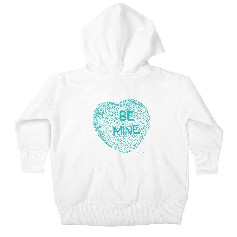 Be Mine Tiffany Blue Kids Baby Zip-Up Hoody by Daniel Dugan's Artist Shop