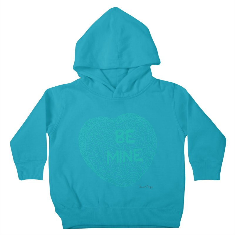 Be Mine Tiffany Blue Kids Toddler Pullover Hoody by Daniel Dugan's Artist Shop