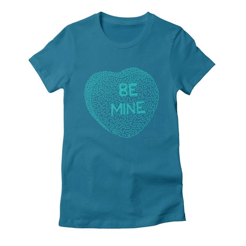 Be Mine Tiffany Blue Women's Fitted T-Shirt by Daniel Dugan's Artist Shop