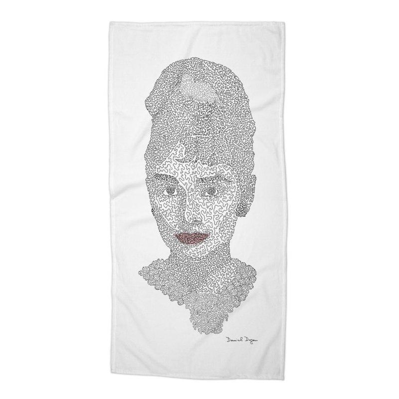 Audrey Hepburn Accessories Beach Towel by Daniel Dugan's Artist Shop