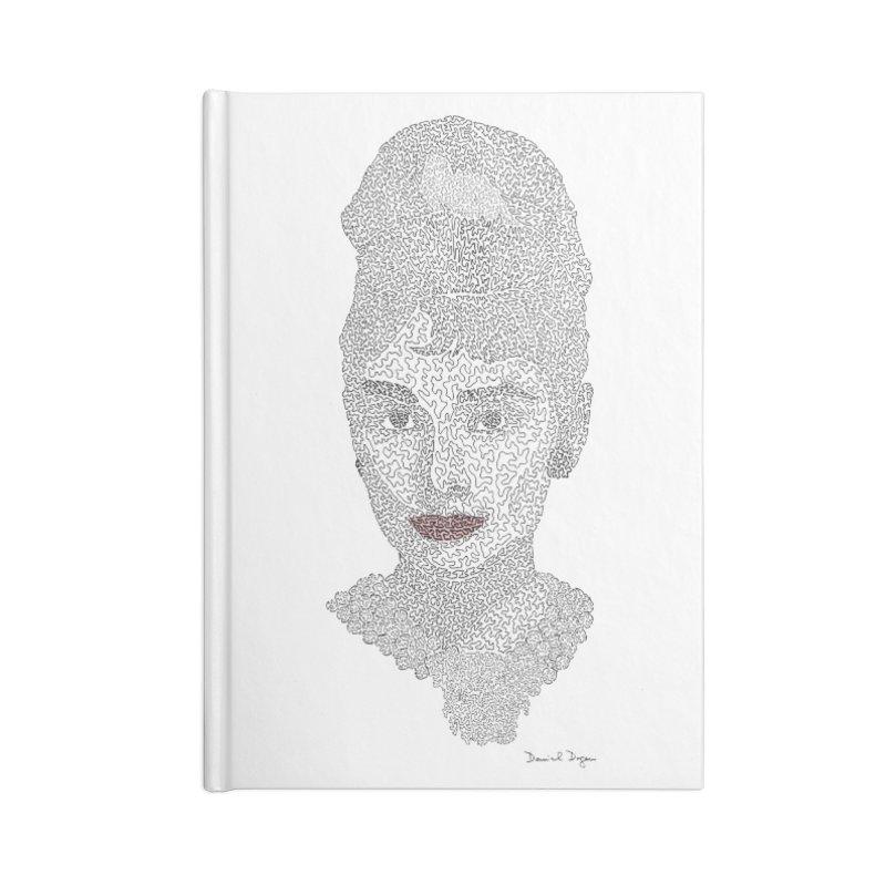 Audrey Hepburn Accessories Notebook by Daniel Dugan's Artist Shop