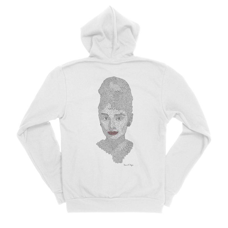 Audrey Hepburn Women's Zip-Up Hoody by Daniel Dugan's Artist Shop