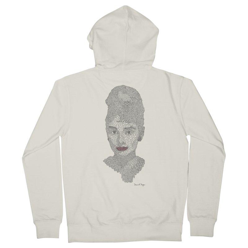 Audrey Hepburn Men's Zip-Up Hoody by Daniel Dugan's Artist Shop