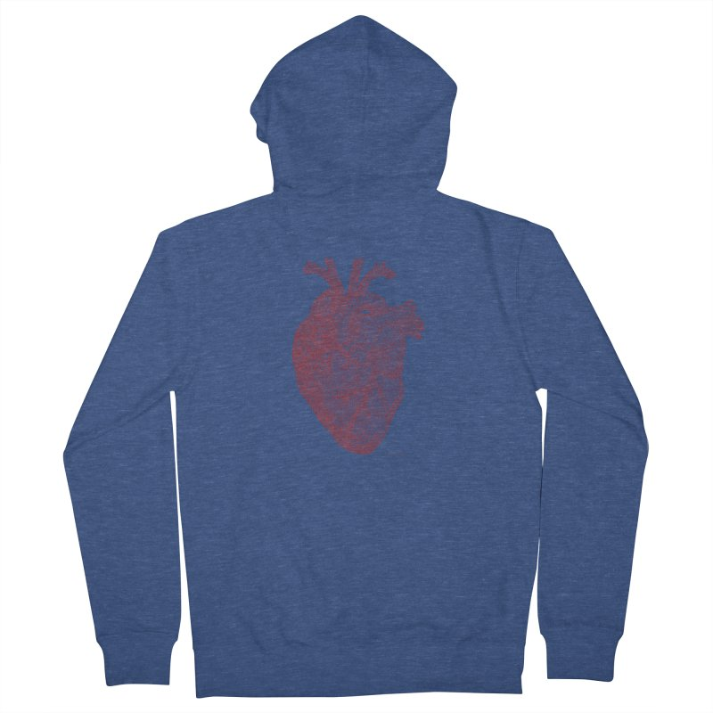 Anatomical Heart Men's Zip-Up Hoody by Daniel Dugan's Artist Shop