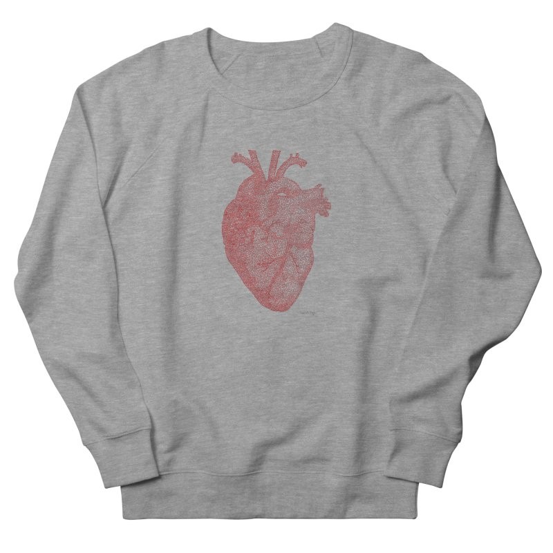 Anatomical Heart Men's Sweatshirt by Daniel Dugan's Artist Shop
