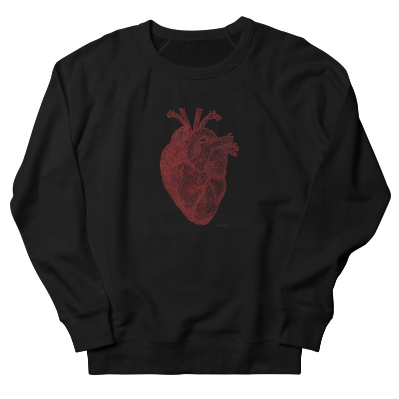 Anatomical Heart Men's Sweatshirt by Daniel Dugan's Artist Shop