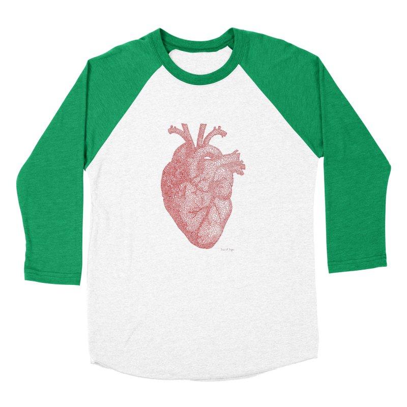 Anatomical Heart Women's Baseball Triblend T-Shirt by Daniel Dugan's Artist Shop