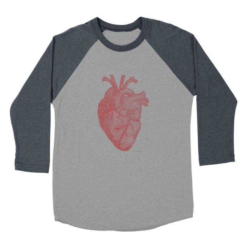 Anatomical Heart Men's Baseball Triblend T-Shirt by Daniel Dugan's Artist Shop