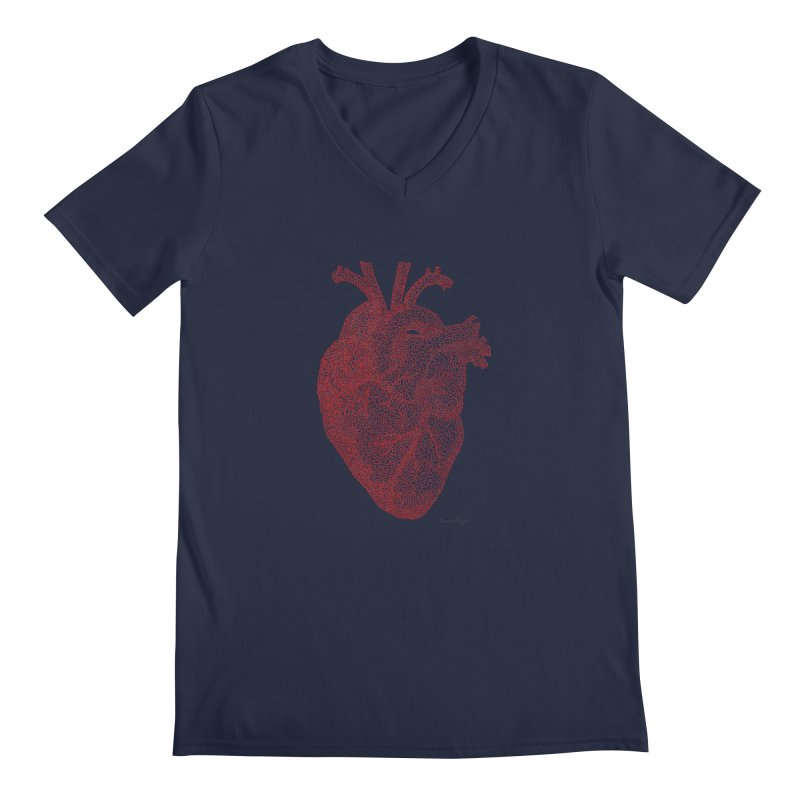Anatomical Heart Men's V-Neck by Daniel Dugan's Artist Shop