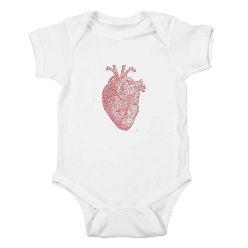 Anatomical Heart Kids Baby Bodysuit by Daniel Dugan's Artist Shop