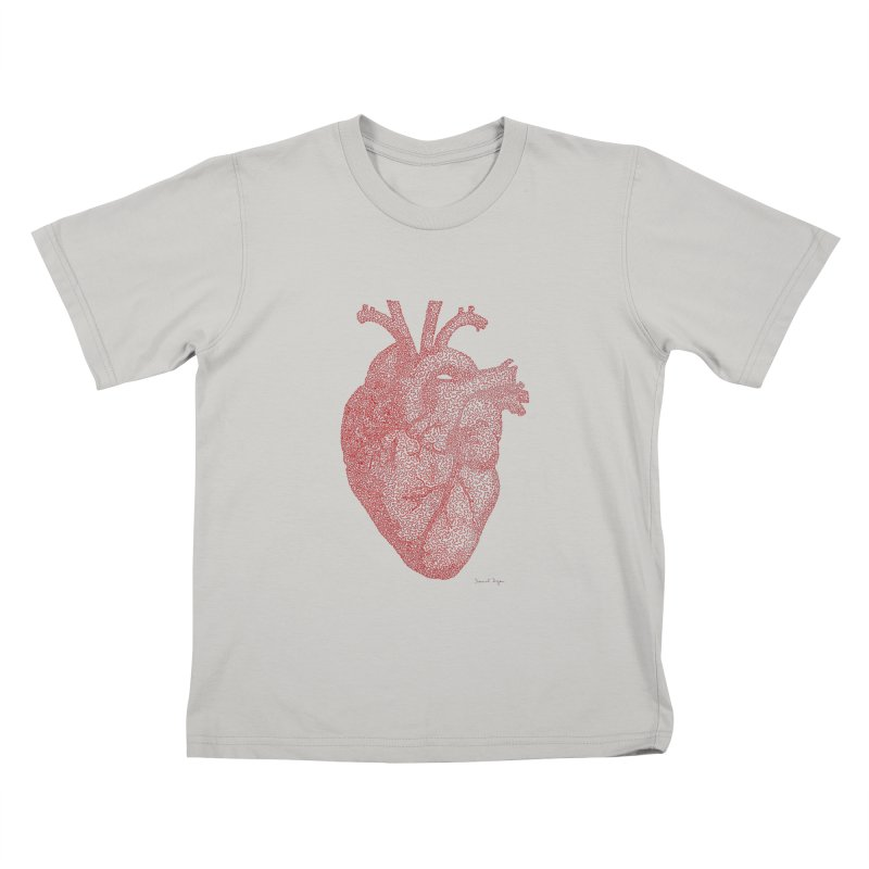 Anatomical Heart Kids T-shirt by Daniel Dugan's Artist Shop
