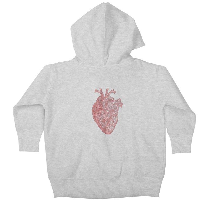 Anatomical Heart Kids Baby Zip-Up Hoody by Daniel Dugan's Artist Shop