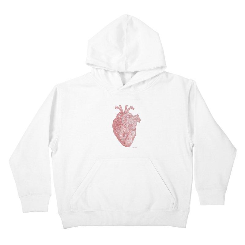 Anatomical Heart Kids Pullover Hoody by Daniel Dugan's Artist Shop