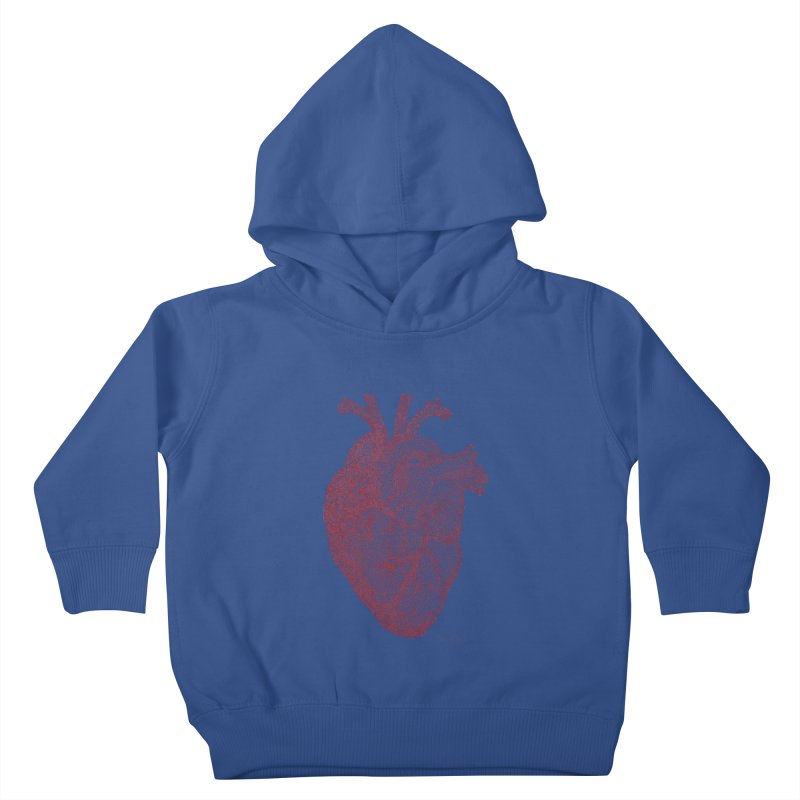 Anatomical Heart Kids Toddler Pullover Hoody by Daniel Dugan's Artist Shop