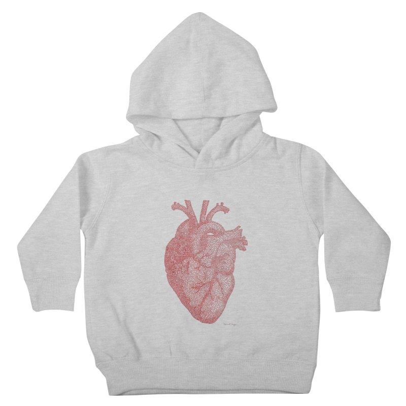 Anatomical Heart Kids Toddler Pullover Hoody by Daniel Dugan's Artist Shop