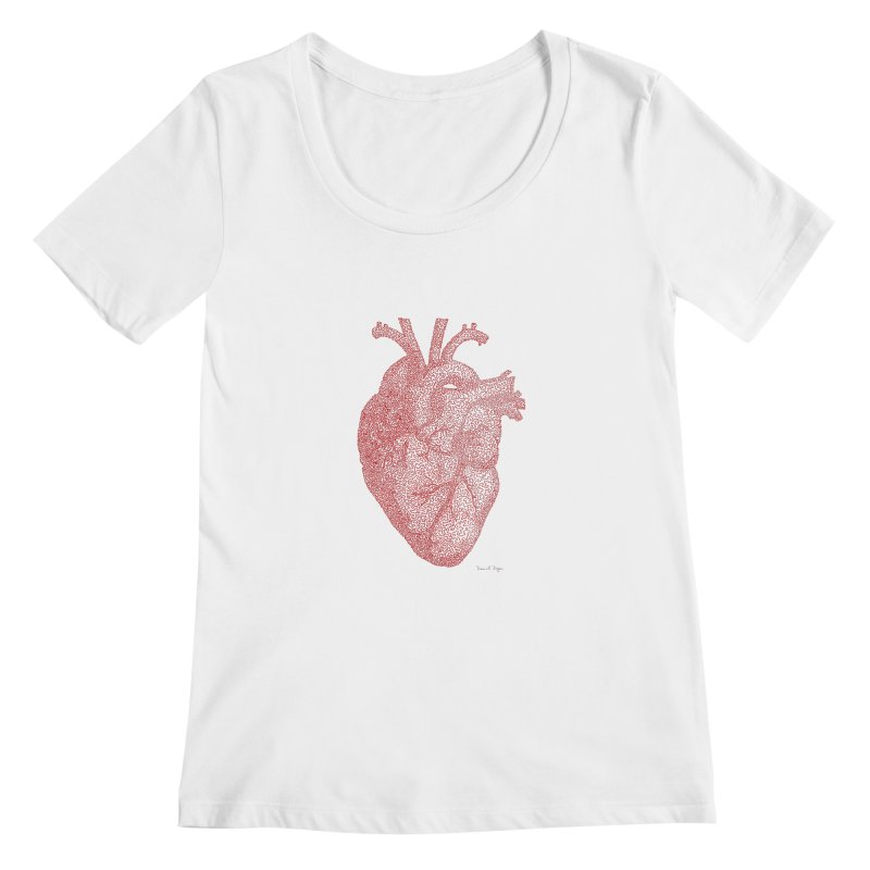 Anatomical Heart Women's Scoopneck by Daniel Dugan's Artist Shop
