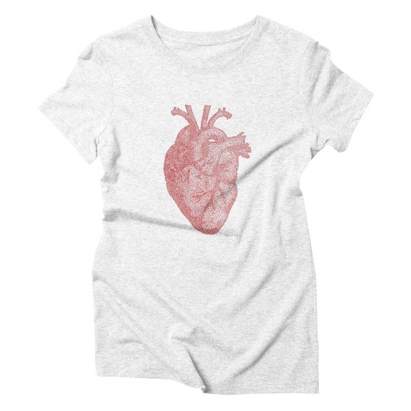 Anatomical Heart Women's Triblend T-shirt by Daniel Dugan's Artist Shop