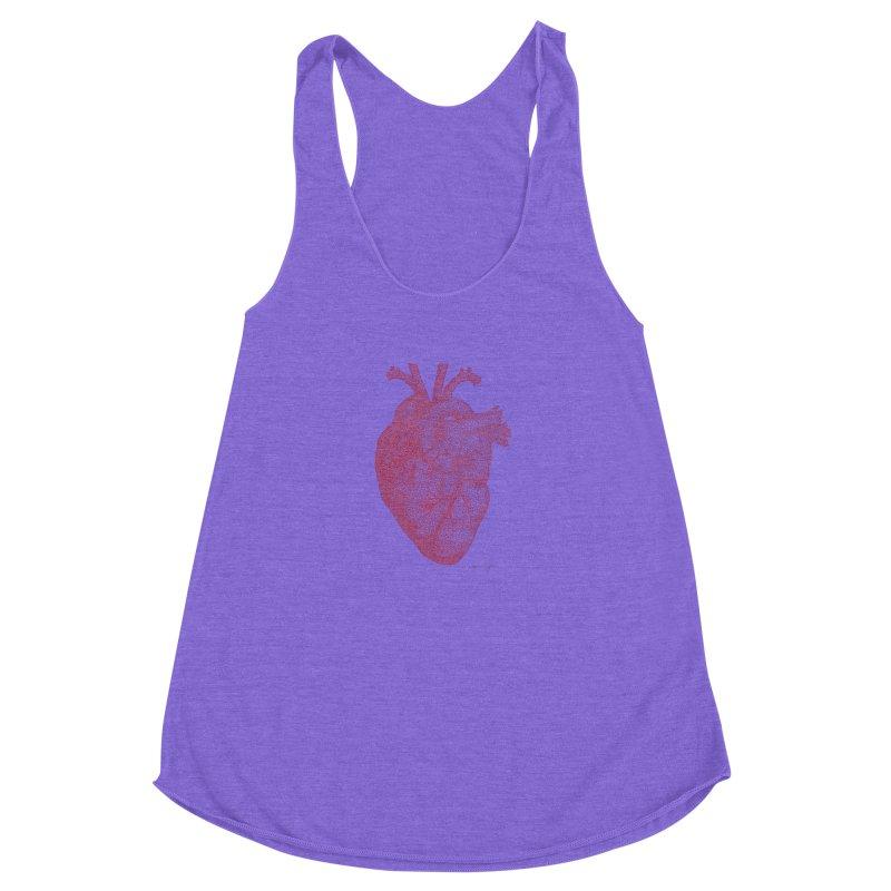 Anatomical Heart Women's Racerback Triblend Tank by Daniel Dugan's Artist Shop