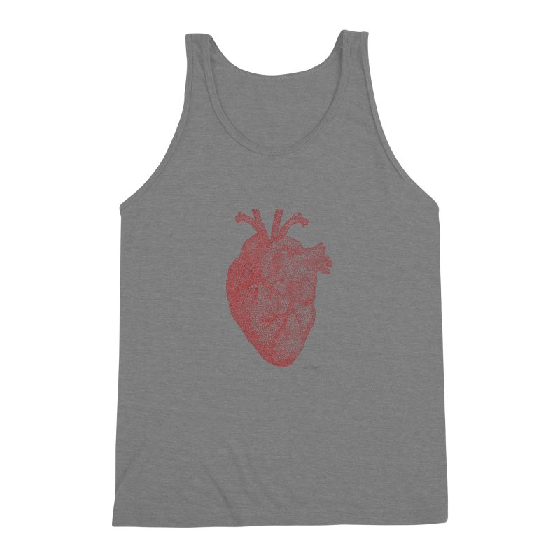 Anatomical Heart Men's Triblend Tank by Daniel Dugan's Artist Shop
