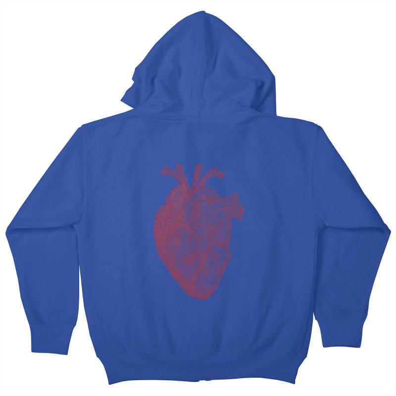 Anatomical Heart Kids Zip-Up Hoody by Daniel Dugan's Artist Shop