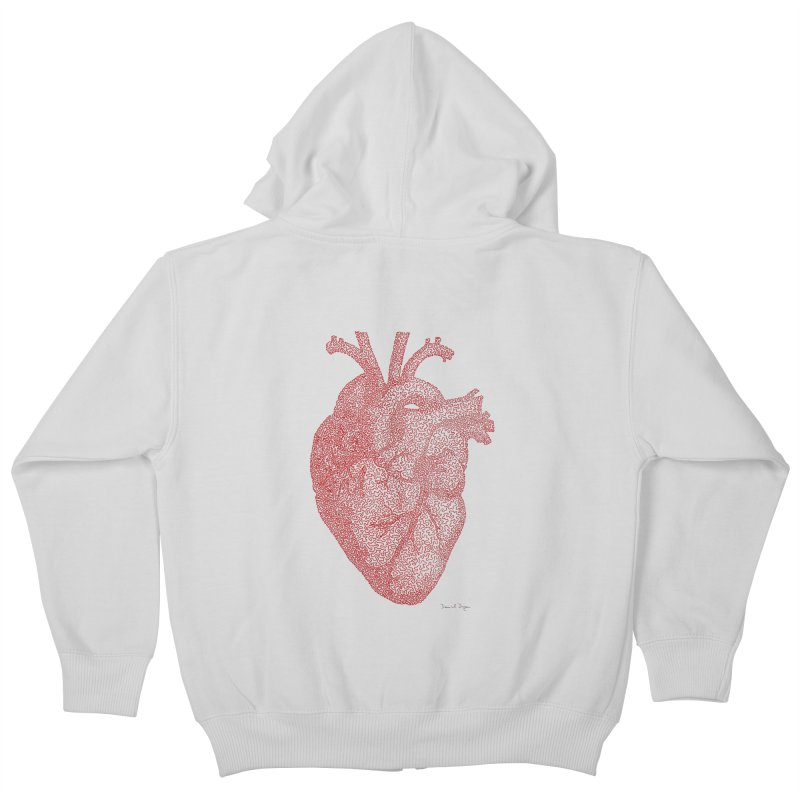 Anatomical Heart Kids Zip-Up Hoody by Daniel Dugan's Artist Shop