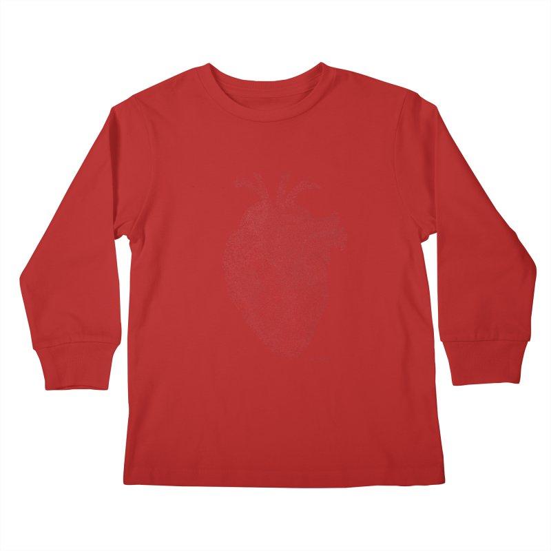 Anatomical Heart Kids Longsleeve T-Shirt by Daniel Dugan's Artist Shop
