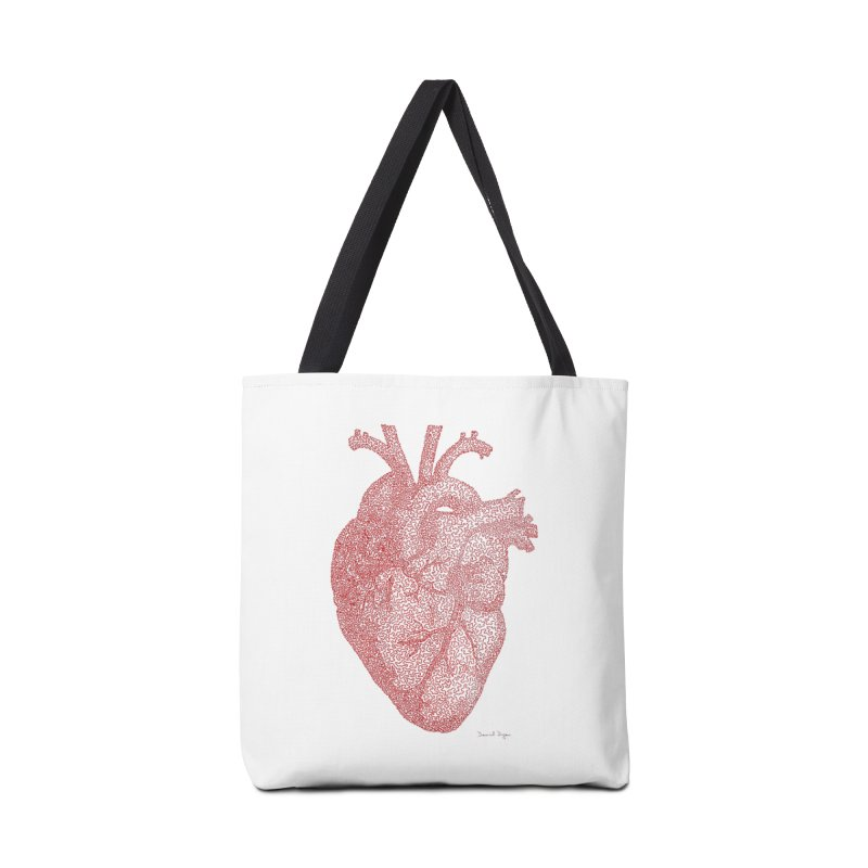 Anatomical Heart Accessories Bag by Daniel Dugan's Artist Shop