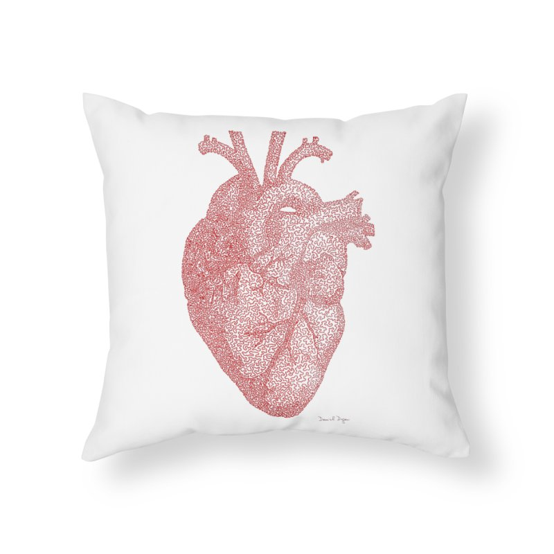 Anatomical Heart Home Throw Pillow by Daniel Dugan's Artist Shop