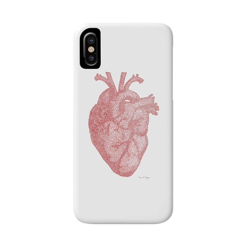 Anatomical Heart Accessories Phone Case by Daniel Dugan's Artist Shop