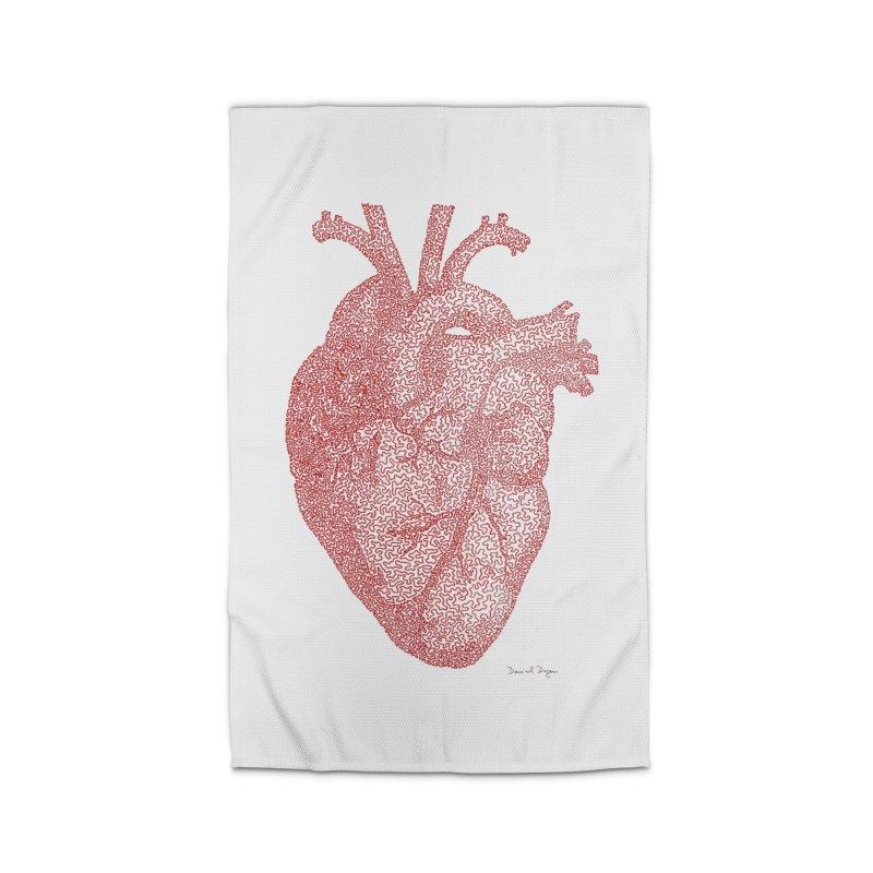 Anatomical Heart Home Rug by Daniel Dugan's Artist Shop