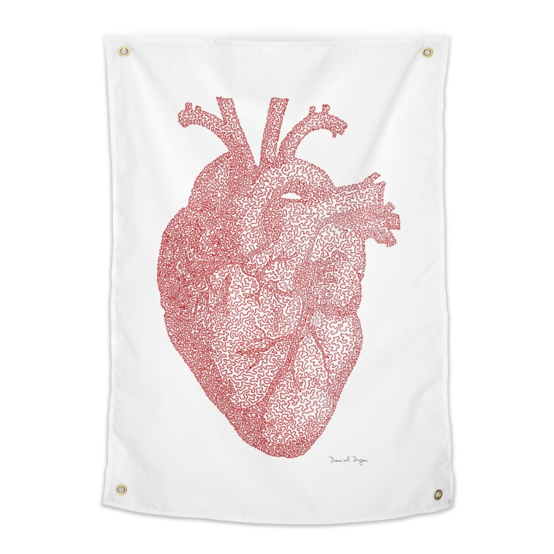 Anatomical Heart Home Tapestry by Daniel Dugan's Artist Shop