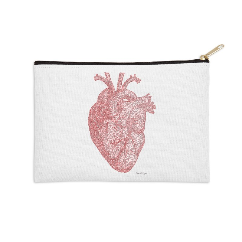 Anatomical Heart Accessories Zip Pouch by Daniel Dugan's Artist Shop