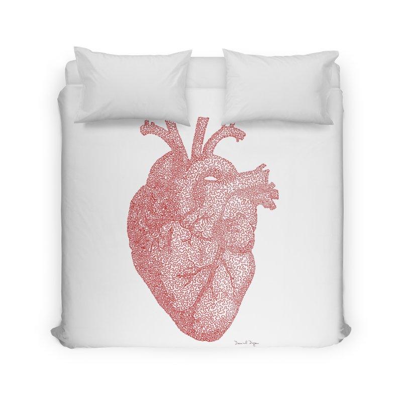 Anatomical Heart Home Duvet by Daniel Dugan's Artist Shop