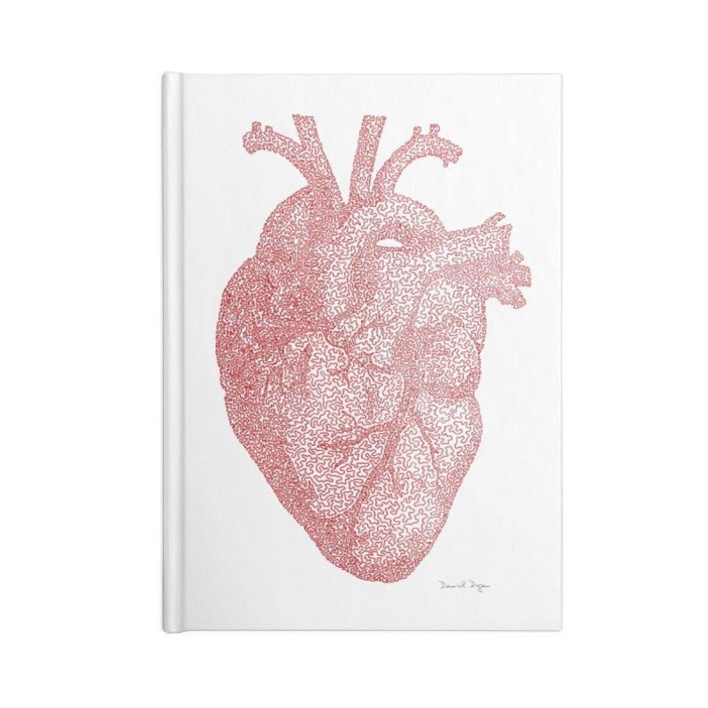 Anatomical Heart Accessories Notebook by Daniel Dugan's Artist Shop
