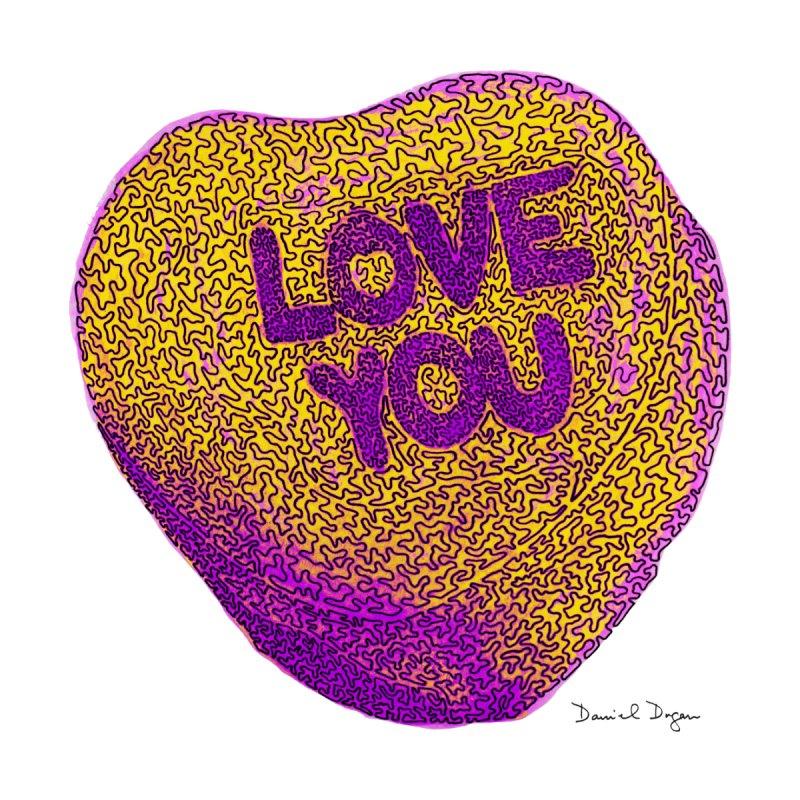 LOVE YOU Electric Yellow Kids Baby Bodysuit by Daniel Dugan's Artist Shop