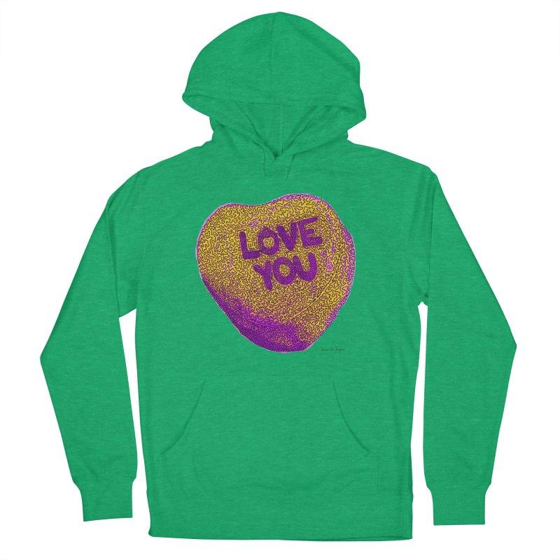 LOVE YOU Electric Yellow Men's Pullover Hoody by Daniel Dugan's Artist Shop