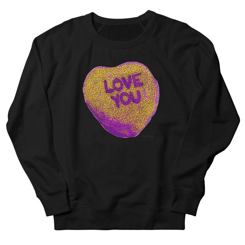 LOVE YOU Electric Yellow Women's Sweatshirt by Daniel Dugan's Artist Shop
